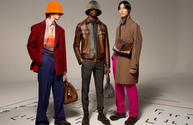Looks from Berluti's upcoming fall 2021 collection.