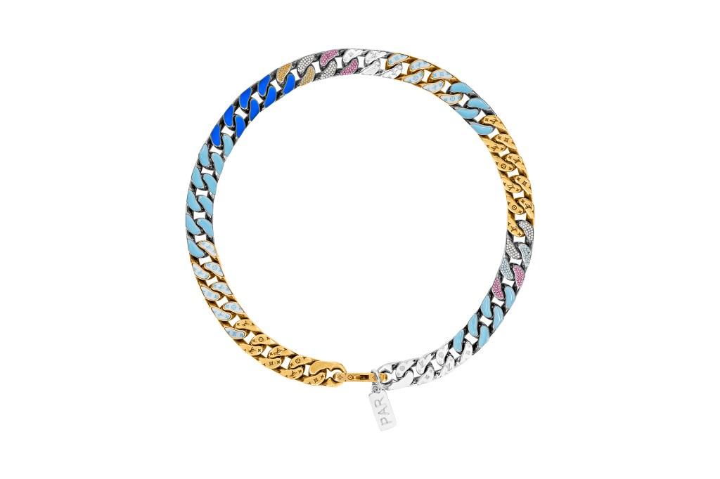 A Louis Vuitton chain-link necklace designed by Virgil Abloh.
