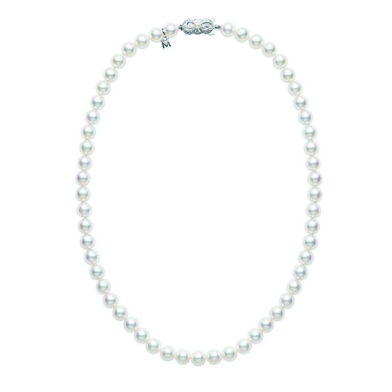 Inauguration Fashion 2021: Mikimoto 18 inch Akoya pearl necklace