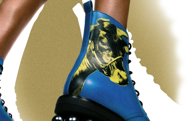 Nicholas Kirkwood has collaborated with The Andy Warhol Foundation on a capsule marking the Year of the Ox.