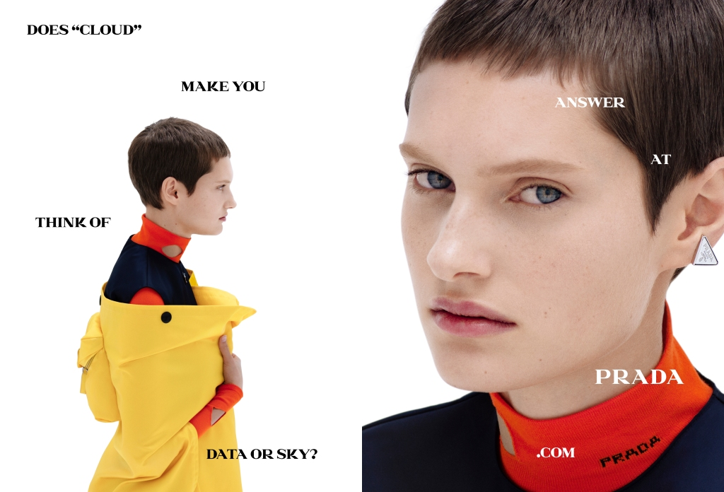 The Prada spring 2021 advertising campaign.