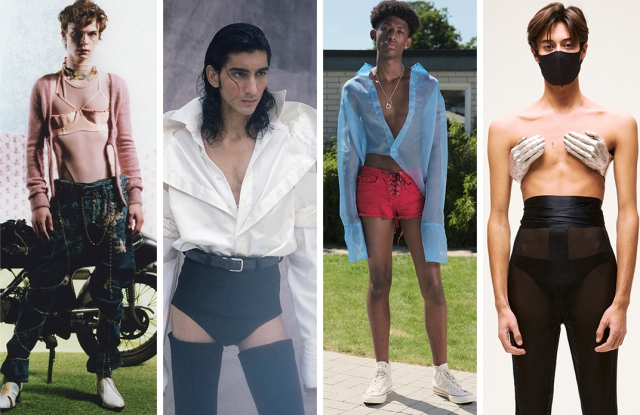 From left: Looks from Neith Nyer, Arturo Obegero, Lazoschmidl, and Burc Akyol