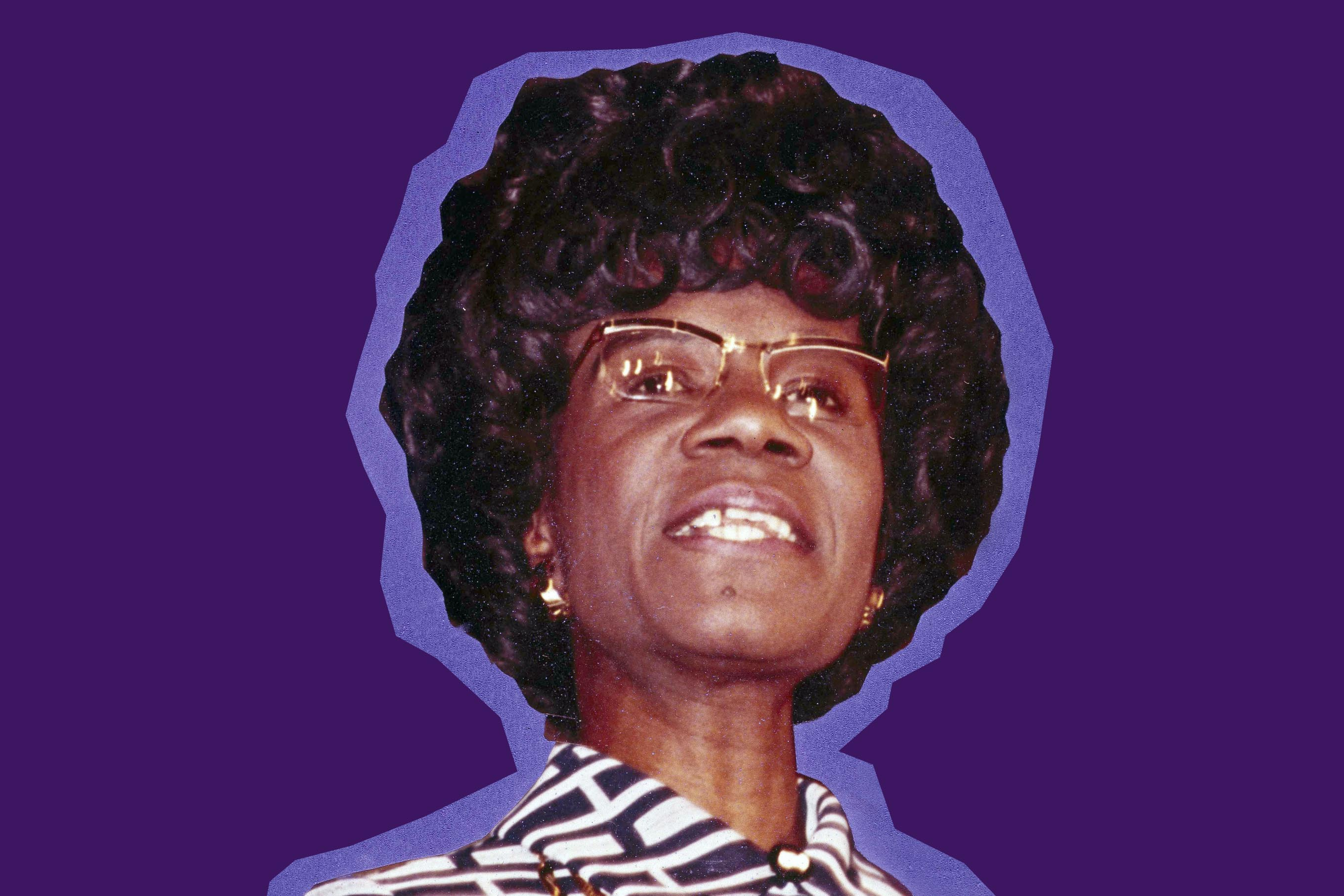 Rep. Shirley Chisholm announces her candidacy for the Democratic presidential nomination, Jan. 25, 1972.