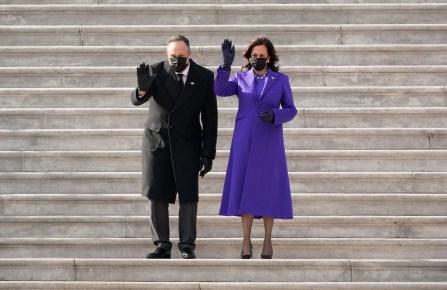 Vice President Kamala Harris and her husband Doug Emhoff