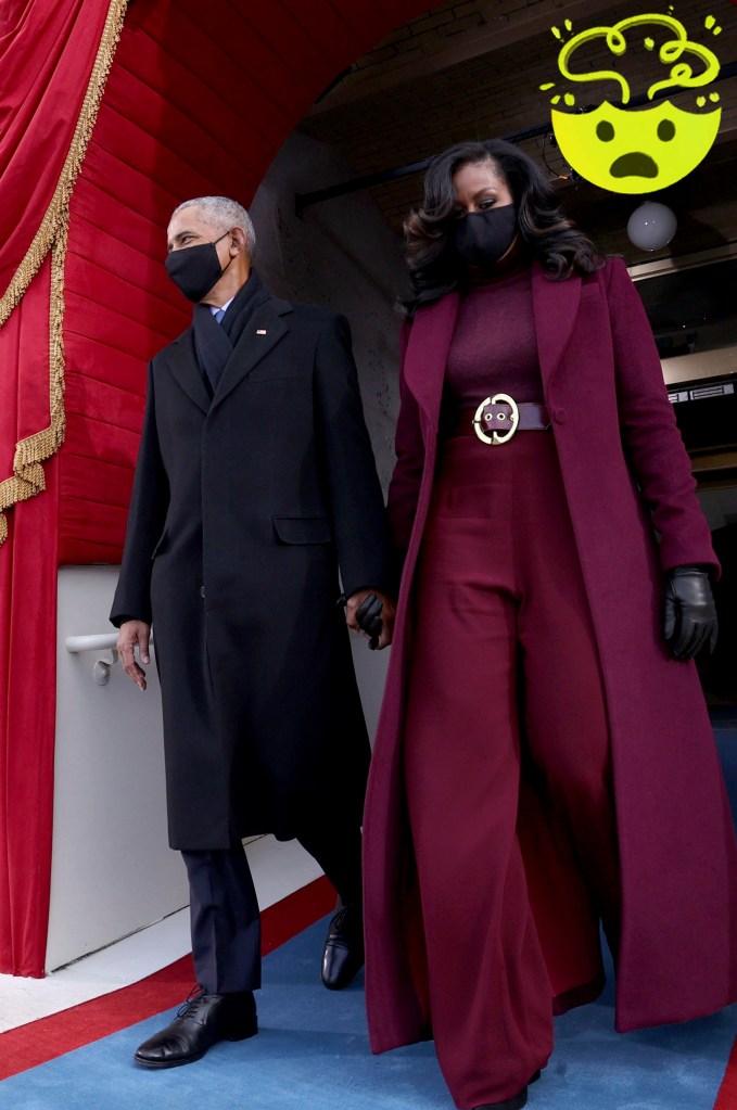 Former U.S. President Barack Obama and wife Michelle Obama.