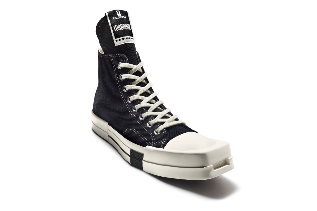 A look from Rick Owens' collaboration with Converse.