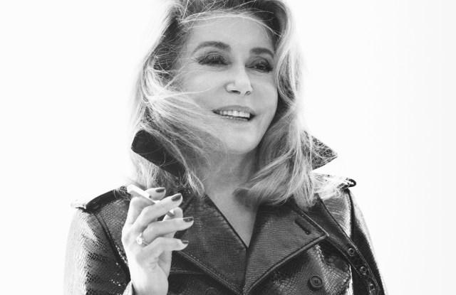 Catherine Deneuve in Saint Laurent's spring campaign.