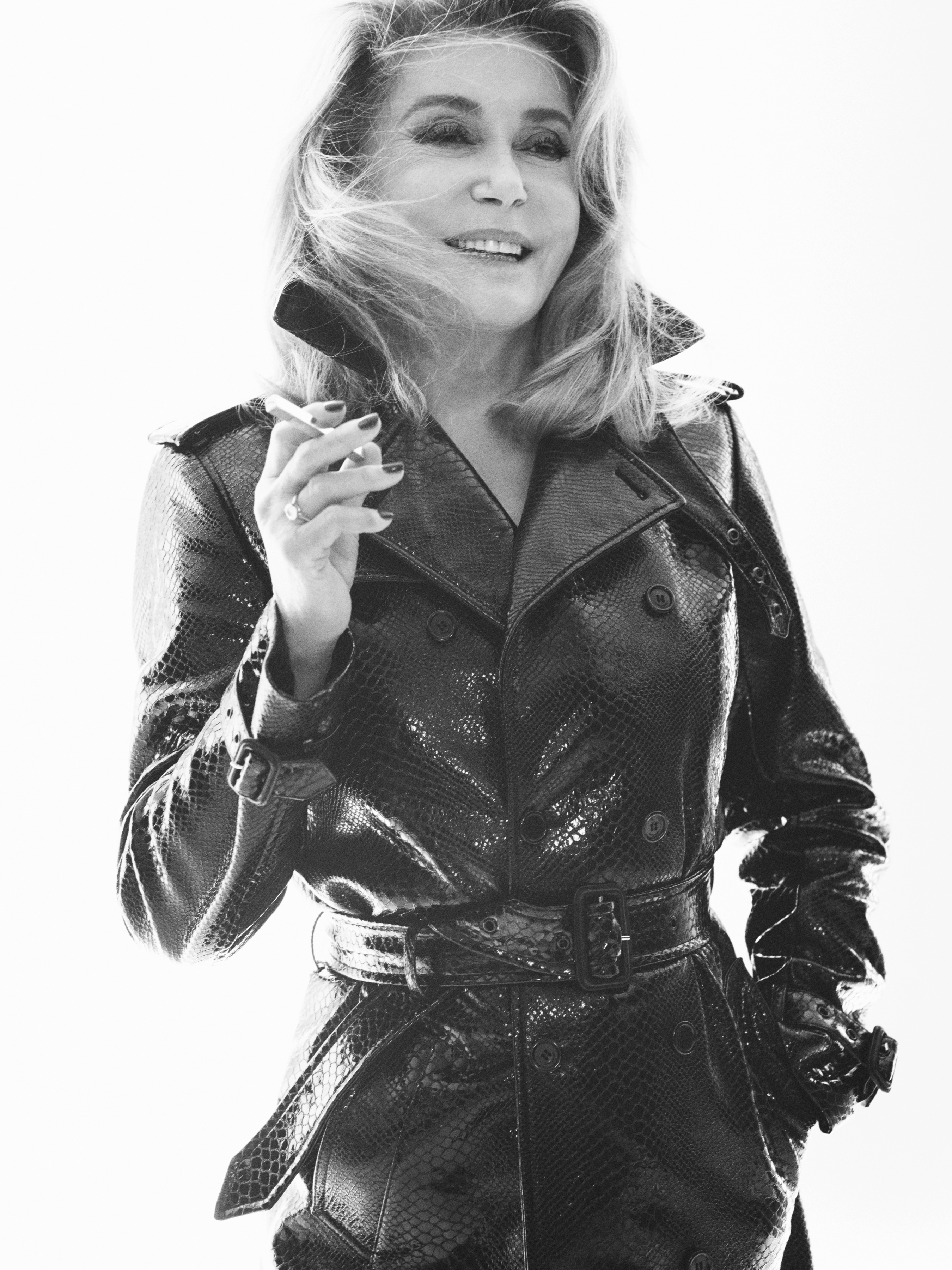 Catherine Deneuve in Saint Laurent's spring campaign.