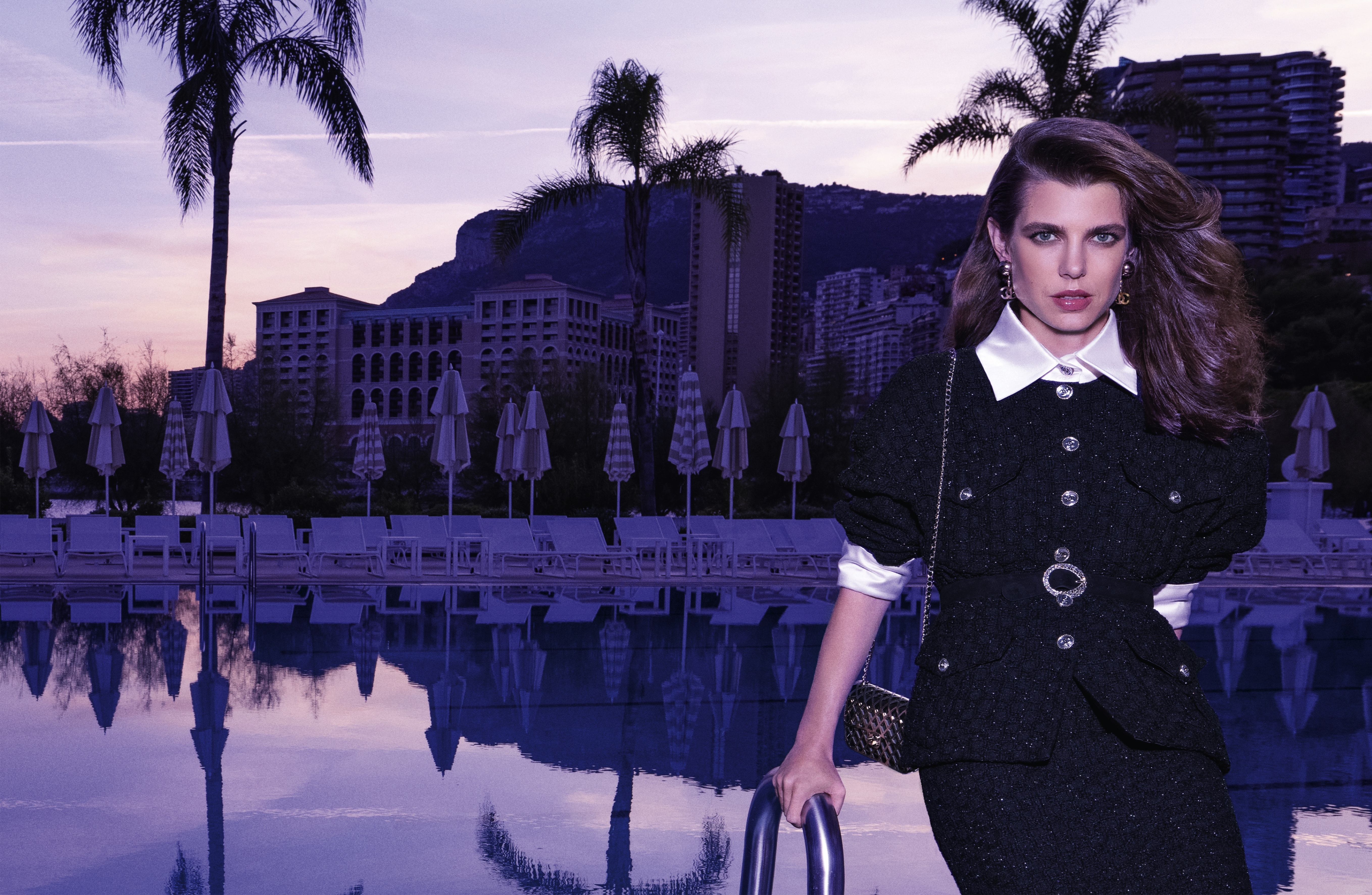 Charlotte Casiraghi in Chanel's spring 2021 advertising campaign.