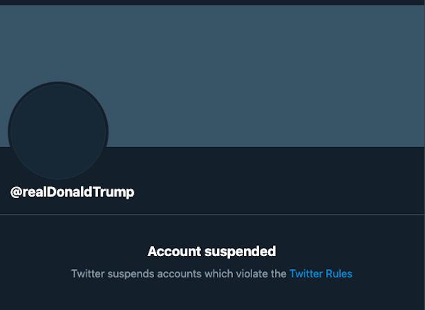 Donald Trump Twitter Ban