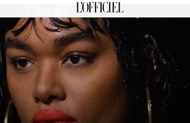 L'Officiel's homepage.