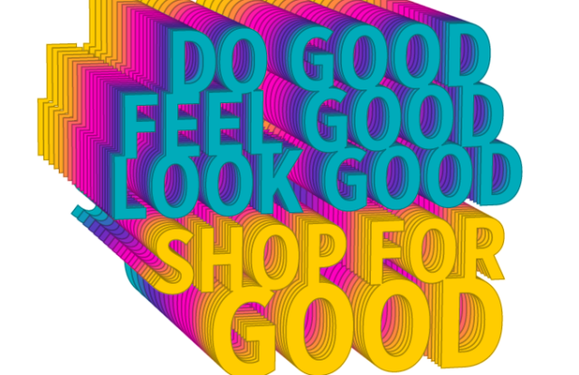 The Shop for Good logo designed by Bradley L. Bowers.