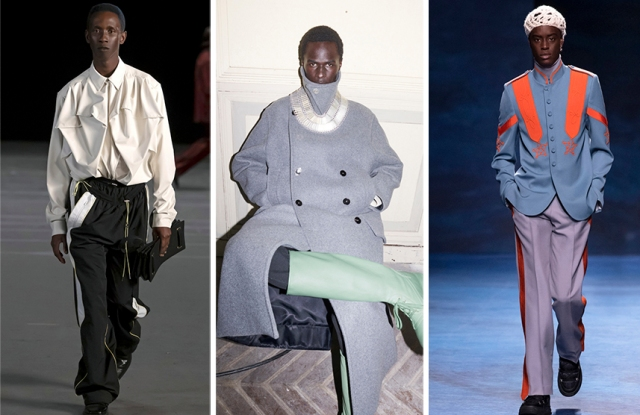 From Left: Y/Project, Jil Sander, Dior