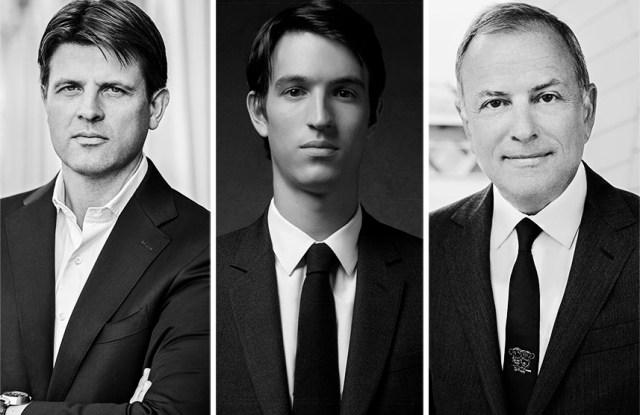 From left: Anthony Ledru , Alexandre Arnault, and Michael Burke