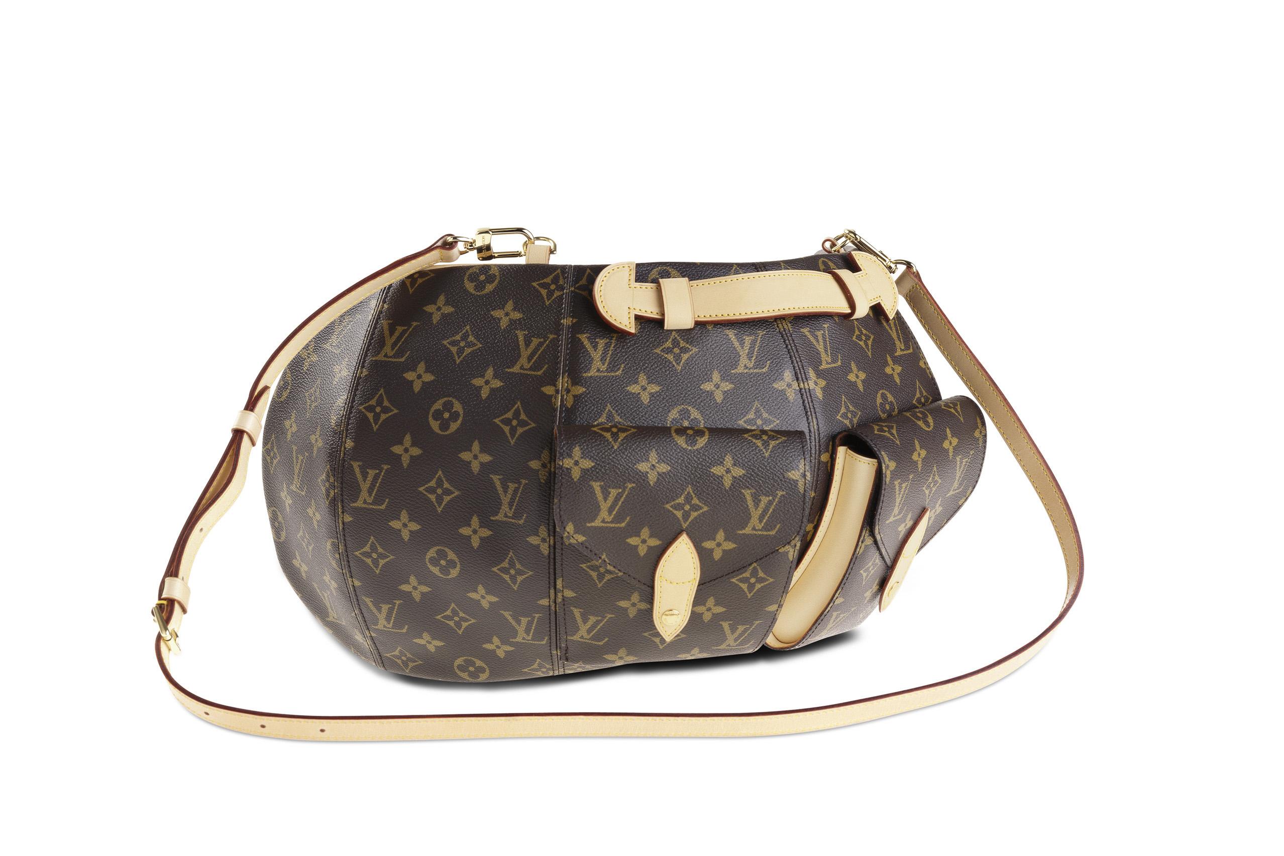 Vivienne Westwood's bustle-shaped bag for Louis Vuitton's 1996 monogram centenary.