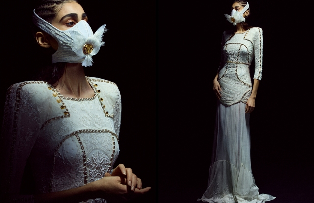 The White Dove mask from the Yacine Aouadi x R-Pur collaboration.