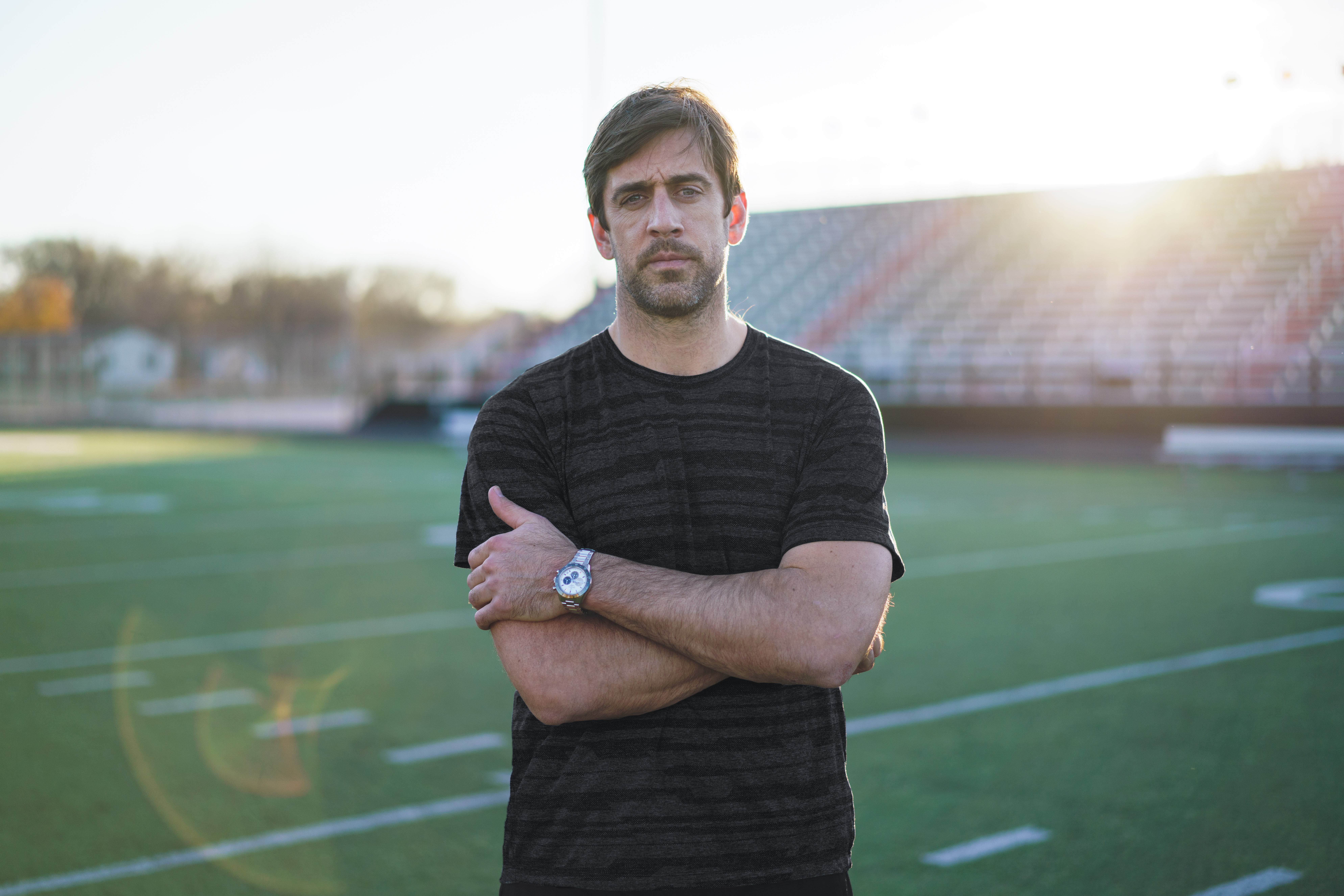 Aaron Rodgers for Zenith's Chronomaster Sport.