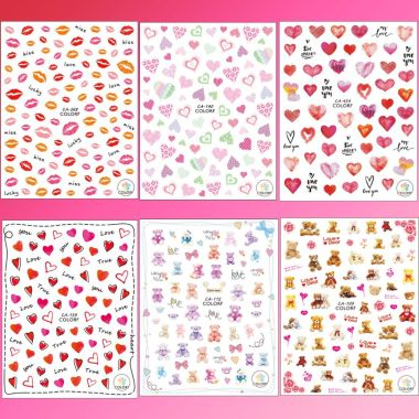 adurself, best valentines day nail stickers