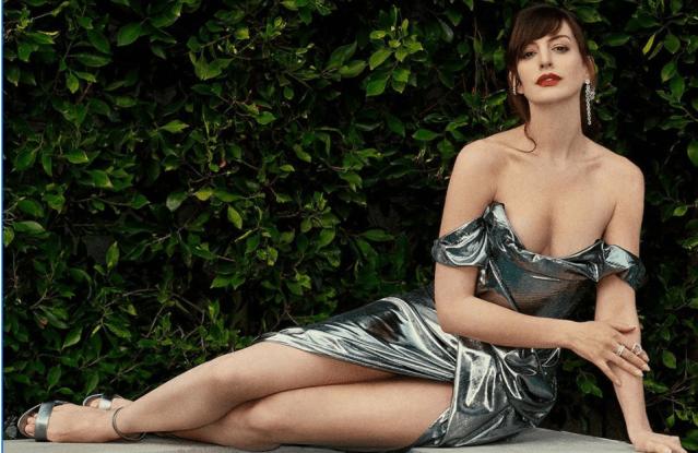 Anne Hathaway Poolside Photoshoot Fashion Breakdown