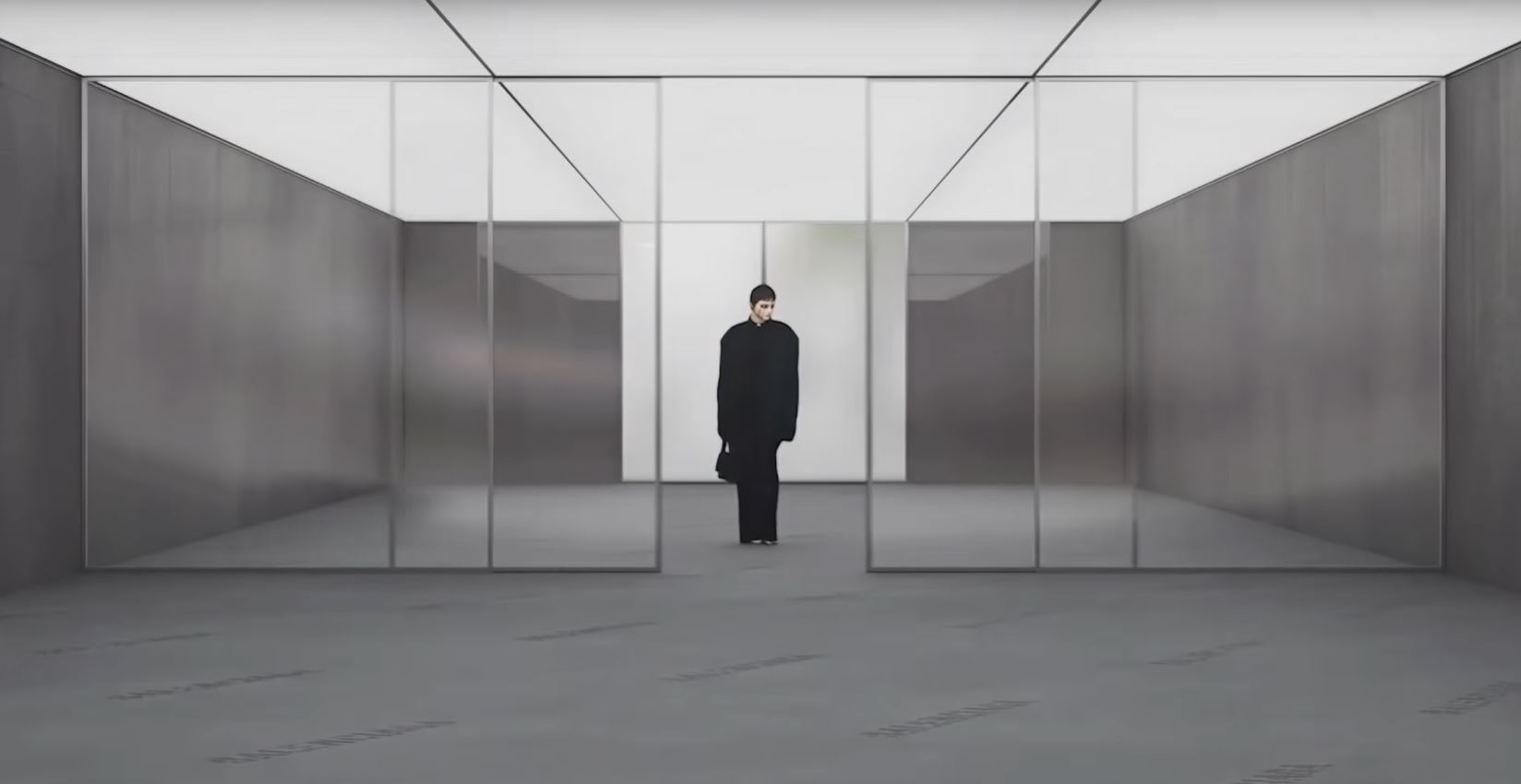Would you try on your jeans in here? A still from the video promoting Balenciaga's new game.