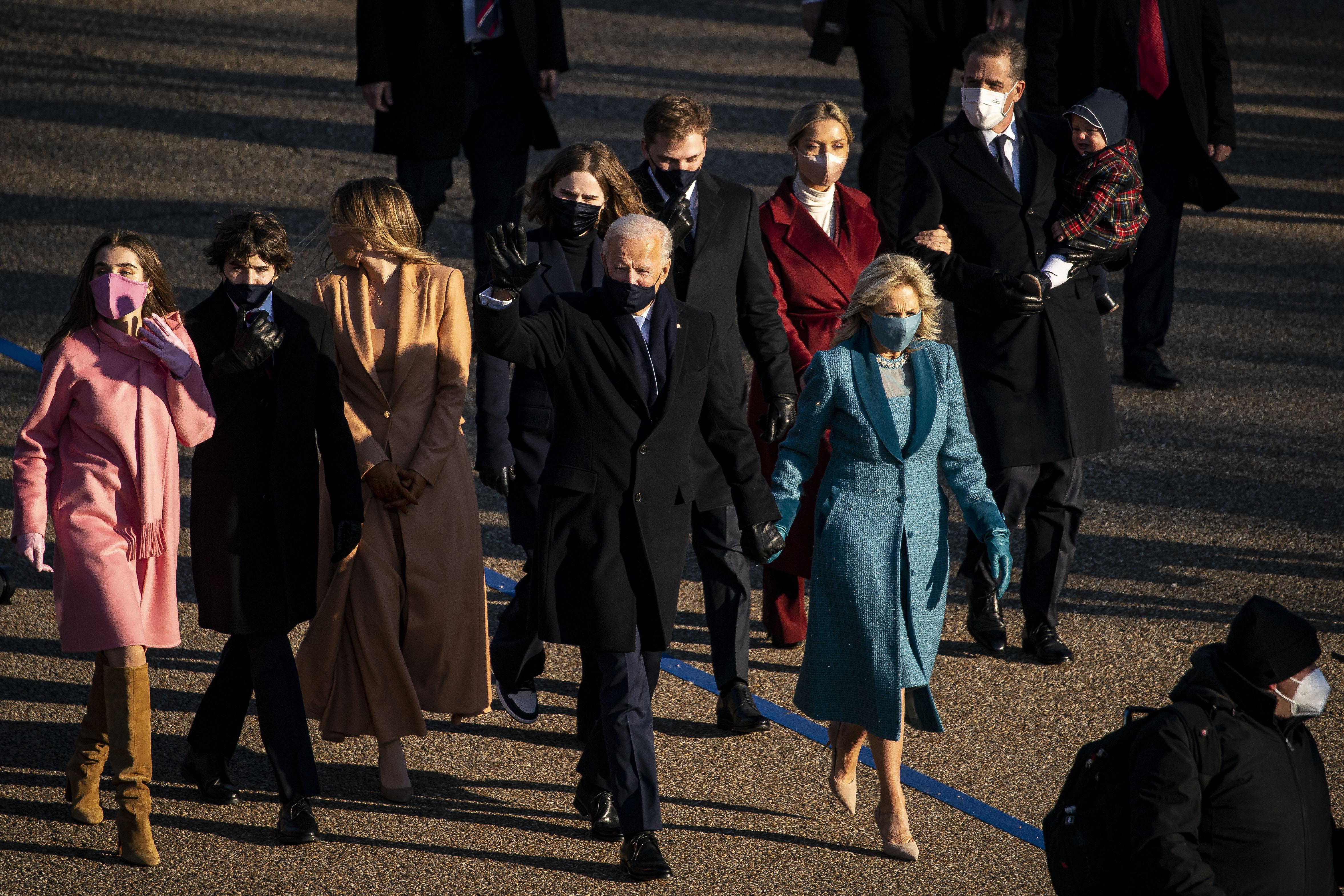 Biden's Granddaughters Inauguration Fashion