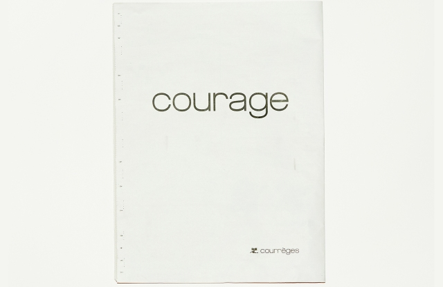 The Courrèges New Year's advertisement.