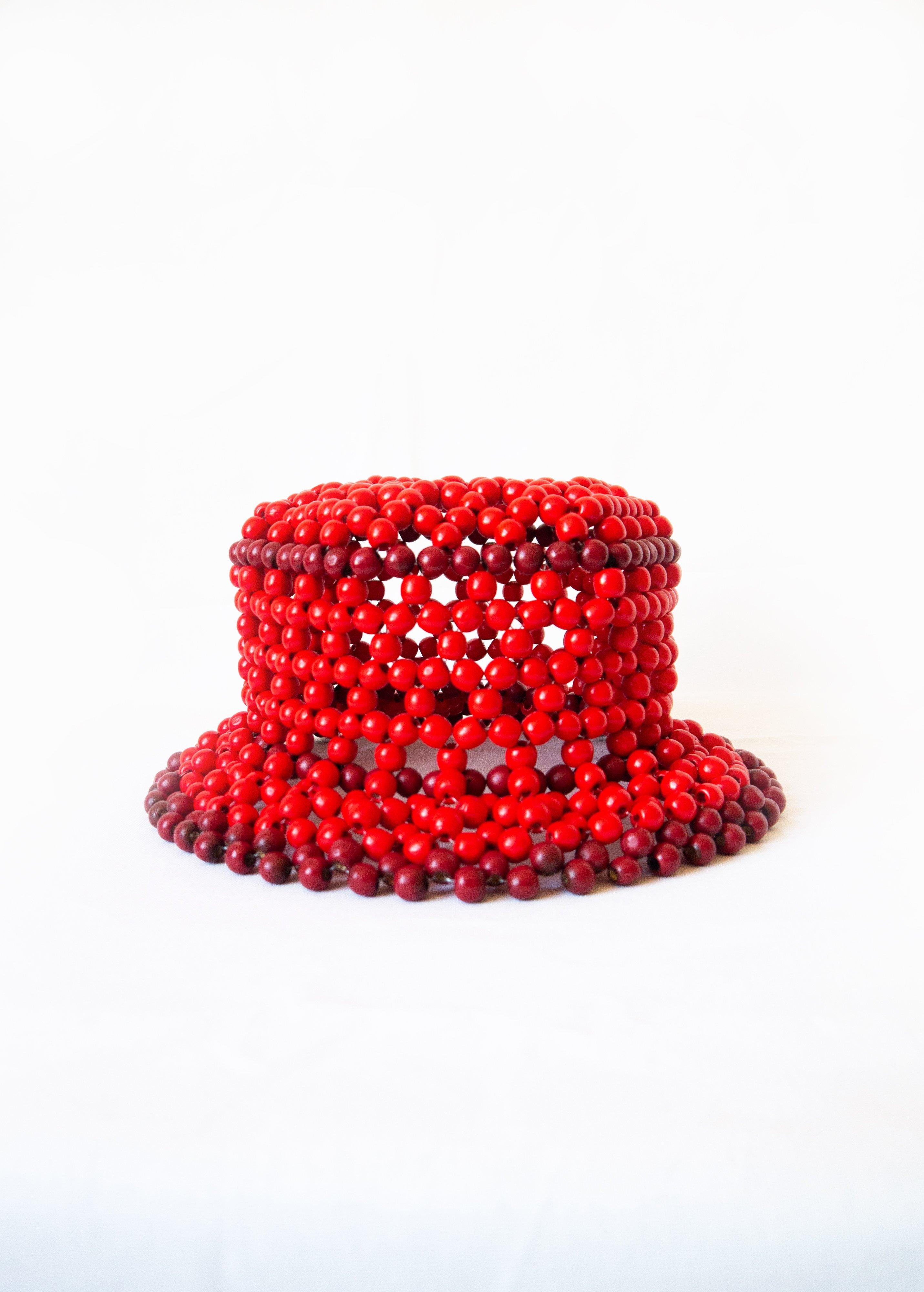 EDAS x Cameron Tea, Untitled, handmade beaded bucket hat