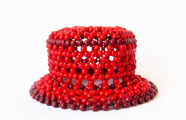 A beaded hat from the Edas x Cameron Tea collaboration.