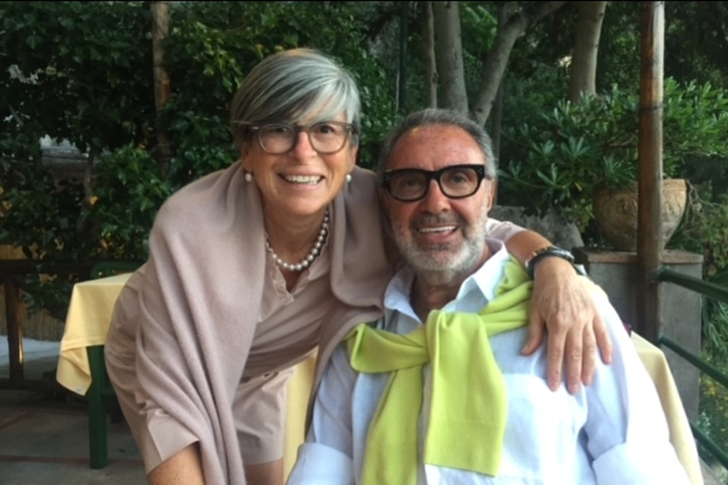Franco Fieramosca and Cristina Nannelli in Capri.