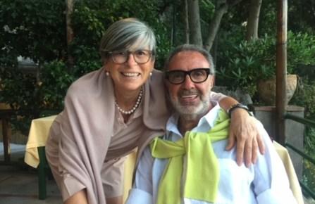 Franco Fieramosca and Cristina Nannelli in Capri.