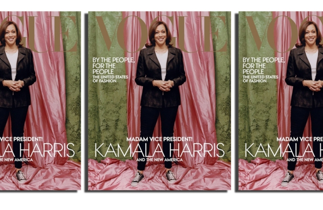 Kamala Harris on the February cover of Vogue.