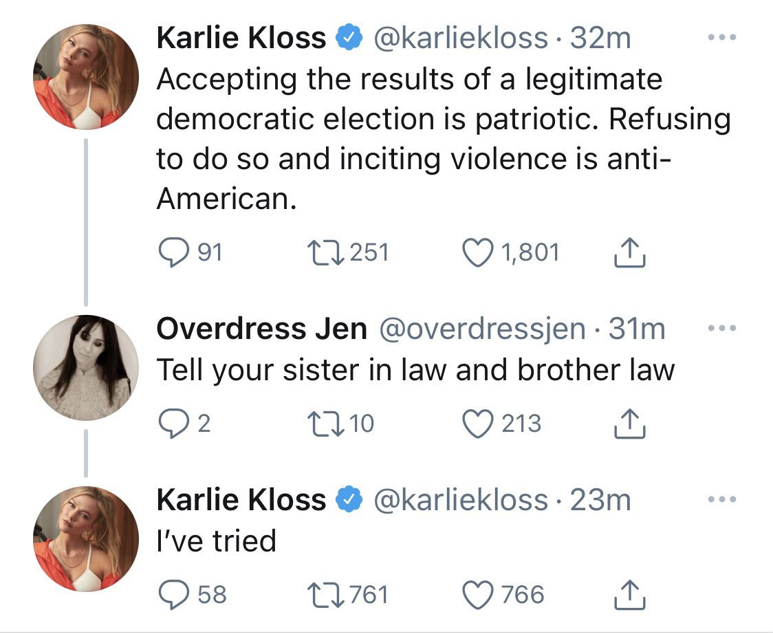 Karlie Kloss Says She's 'Tried' Talking to Ivanka Trump and Jared Kushner