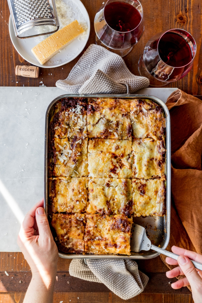 An image from the lasagne recipe featured on @julskitchen.