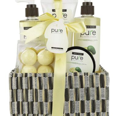 pure by rachelle parker, best spa gift baskets