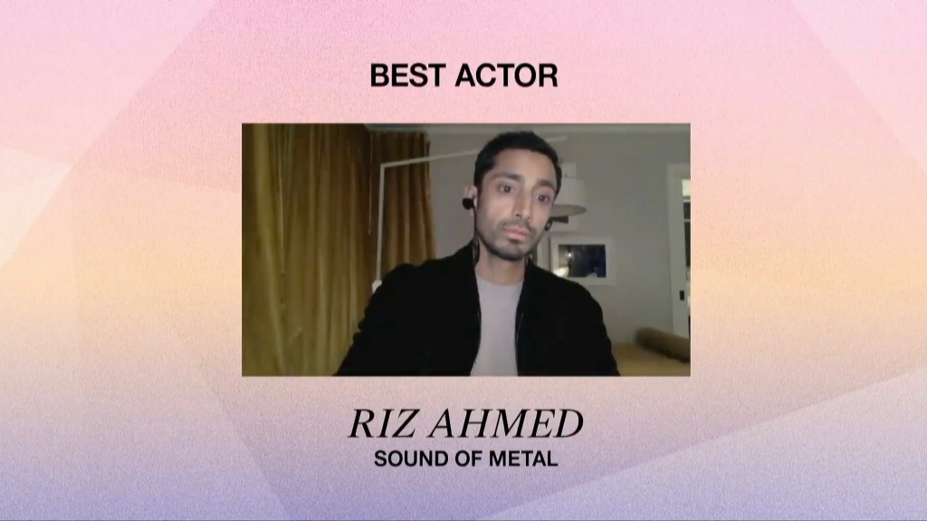 Best Actor winner Riz Ahmed