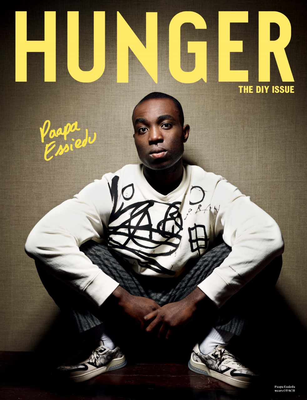 Actor Paapa Essiedu on the cover of Hunger magazine, The DIY issue.