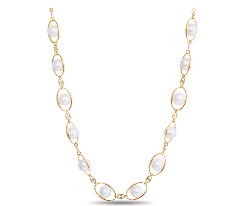 Kamala Harris' inauguration pearl necklace, designed by Wilfredo Rosado.