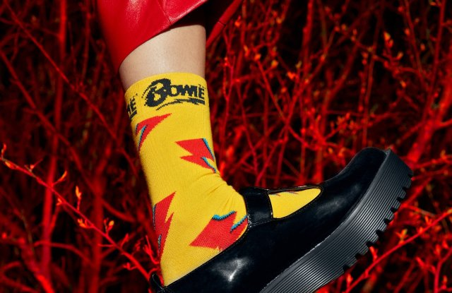 Happy Socks' David Bowie collection.