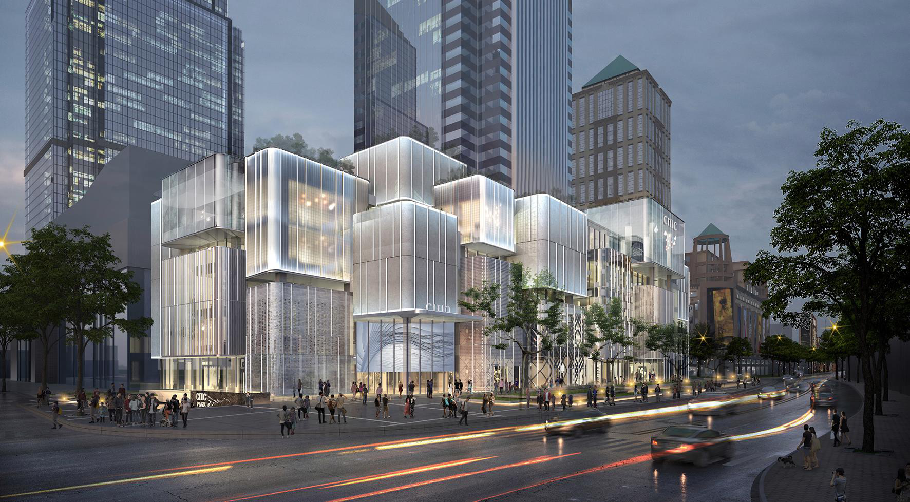 Visual mock up of the refurbished CITIC Square in Shanghai.