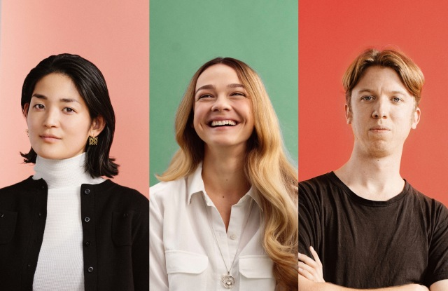 De Beers' collaborators Ami Masamitsu, Kristina Ferenchuk and Louis Tamlyn