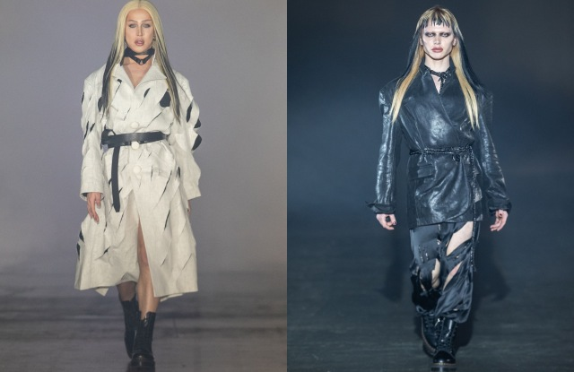 RuPaul Drag Race UK's front running contestants A'Whora and Bimini Bon-Boulash sported an oversized leather blazer and a slashed coat, respectively at fashion label Art School's fall 2021 show.