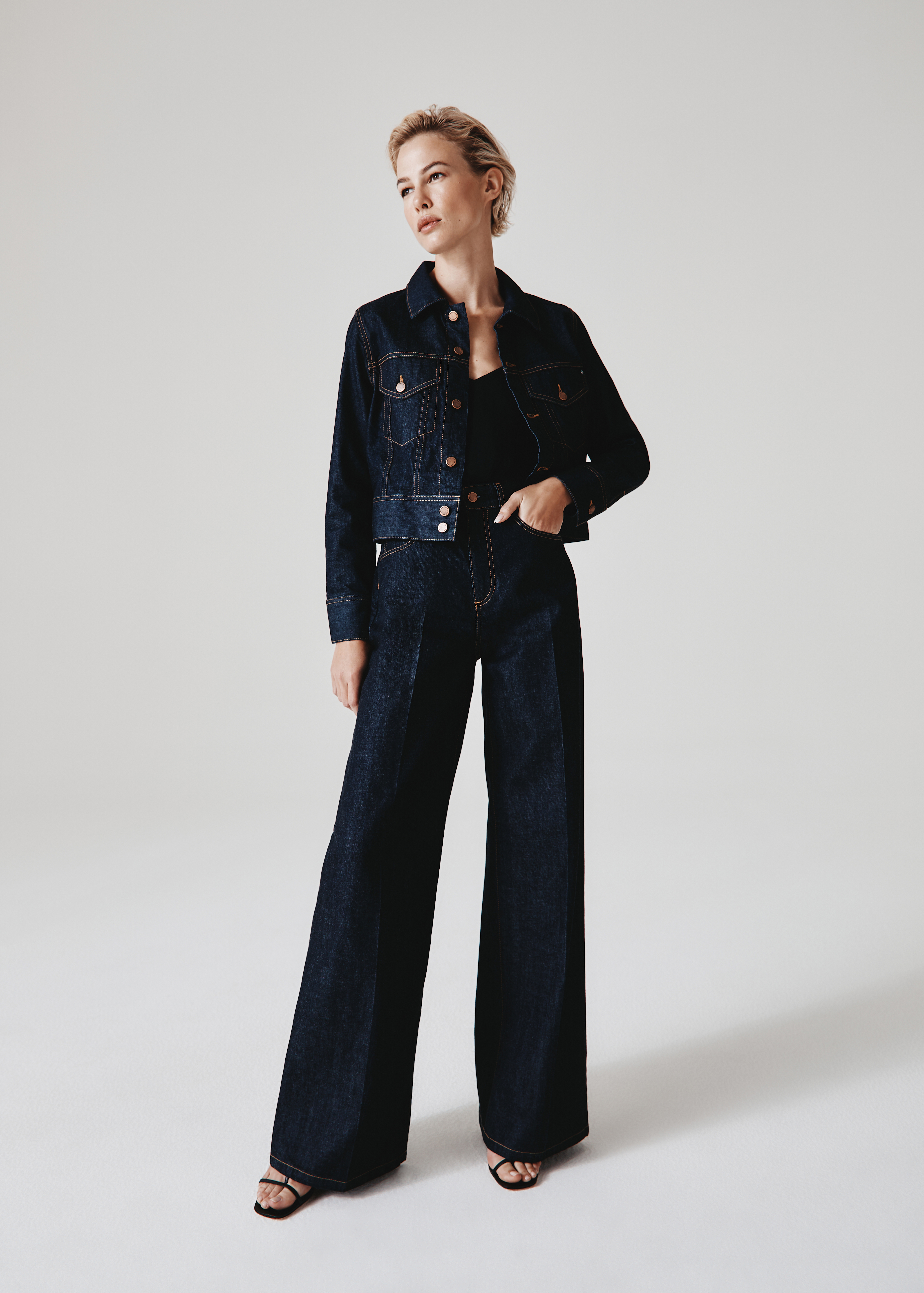 A tailored women's look from AG Jeans for fall.