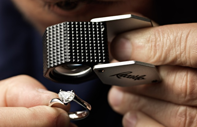 A Recarlo diamond engagement ring.
