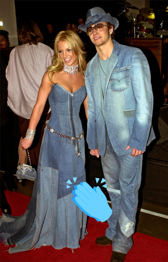Britney Spears and Justin Timberlake American Music Awards in Los Angeles, 2001.