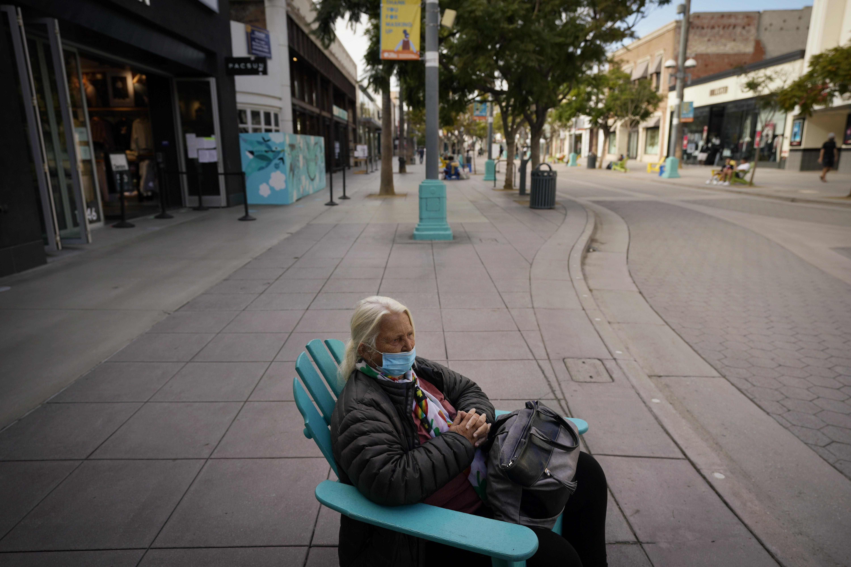 Santa Monica Third Street Promenade Coronavirus