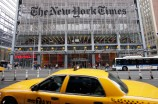 "FILE - In this Oct. 18, 2011 file photo, traffic passes the New York Times building, in New York. In a Monday, Nov. 2, 2015 ""State of the Times"" speech to employees, New York Times publisher Arthur Sulzberger said his successor will be chosen within two years. (AP Photo/Mark Lennihan, File)"