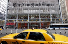 """FILE - In this Oct. 18, 2011 file photo, traffic passes the New York Times building, in New York. In a Monday, Nov. 2, 2015 """"State of the Times"""" speech to employees, New York Times publisher Arthur Sulzberger said his successor will be chosen within two years. (AP Photo/Mark Lennihan, File)"""