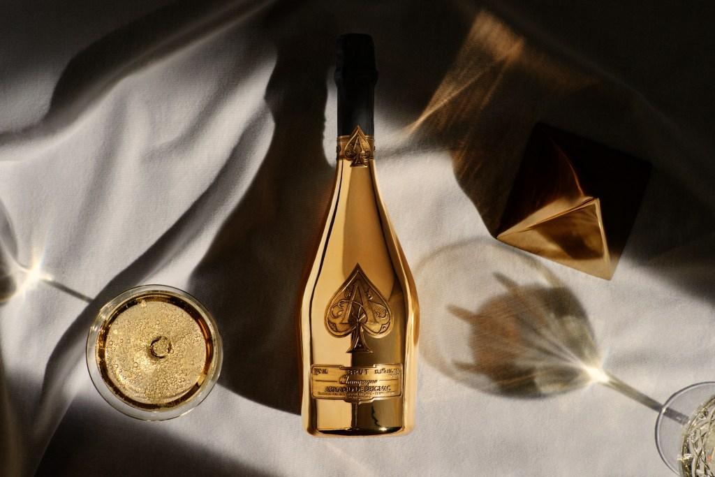 Armand de Brignac's Brut Gold Champagne.