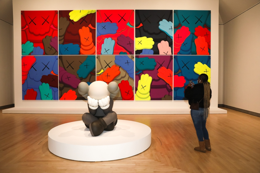 "Installation view of ""Kaws: What Party"" at Brooklyn Museum."