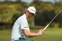 Professional golfer, Justin Rose, photographed for his Spring 2021 Bonobos capsule collection.